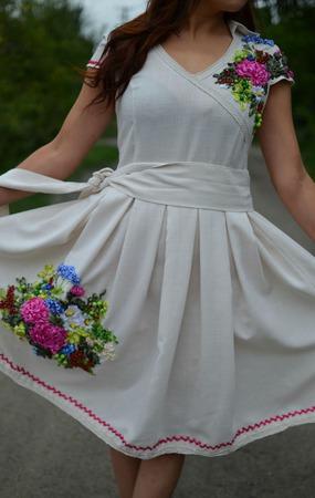 """Платье""""Малиновый закат"""" ручной работы на заказ"""