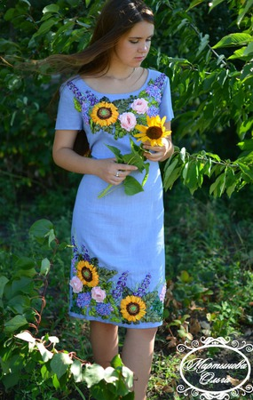 """Платье """" Под солнцем"""" ручной работы на заказ"""