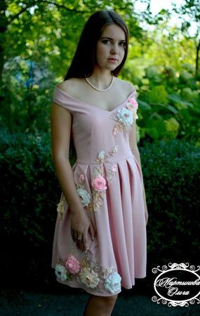"""Платье"""" Нежность розы"""" ручной работы на заказ"""