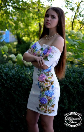 """Платье"""" Гламур"""" ручной работы на заказ"""