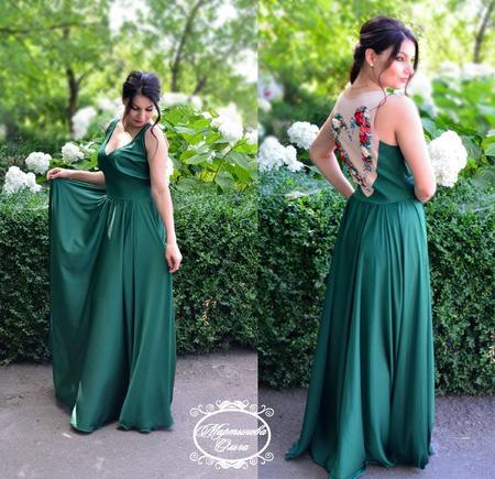 """Платье"""" Изумруд"""" ручной работы на заказ"""