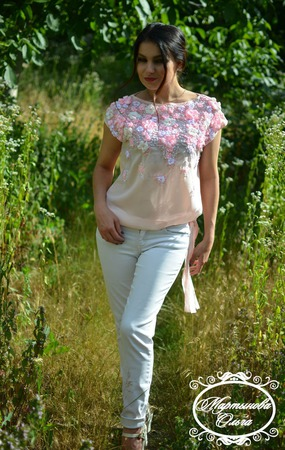 """Блуза"""" Нежность"""" ручной работы на заказ"""
