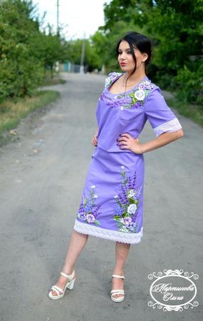 """Платье"""" Сиреневый рассвет"""" ручной работы на заказ"""