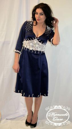 """Платье """"Млечный путь"""" ручной работы на заказ"""