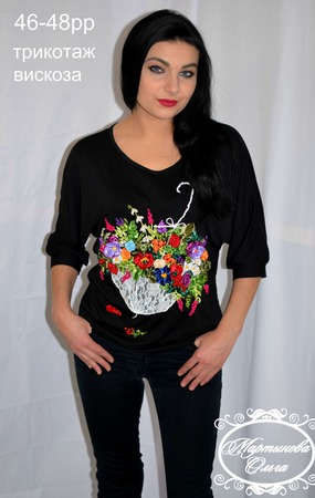 """Блуза""""Цветы после дождя"""" ручной работы на заказ"""