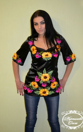 "Блуза ""Луч света"" ручной работы на заказ"