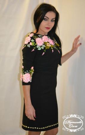 """Платье """"Винтаж"""" ручной работы на заказ"""