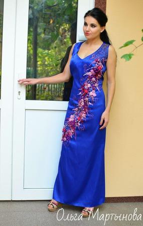 """Платье""""Будь нежной"""" ручной работы на заказ"""
