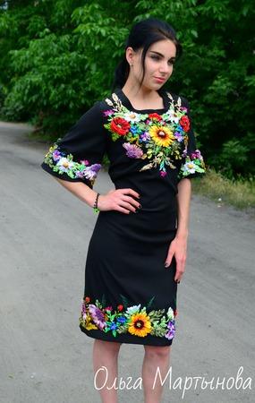 """Платье""""Солнечное счастье"""" ручной работы на заказ"""