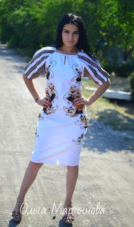 """Платье""""Латте"""" ручной работы на заказ"""