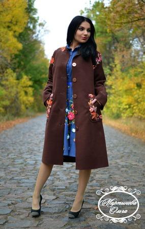 "Пальто ""Осень"" ручной работы на заказ"