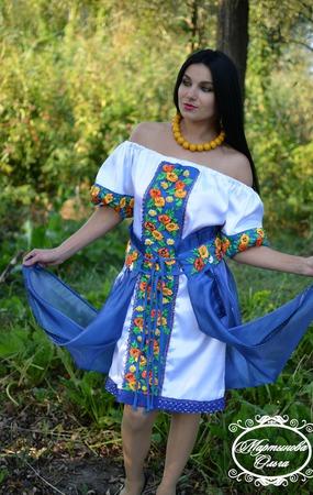 """Платье""""Легкость ветра"""" ручной работы на заказ"""