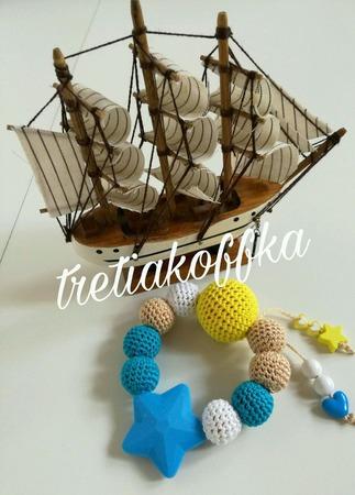 Грызунок-прорезыватель в морском стиле ручной работы на заказ