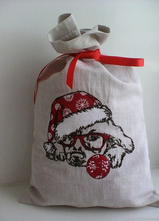 Мешочек для новогодних подарков ручной работы на заказ