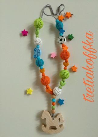 Слингобусы для малыша с подвеской-грызунком Лошадка. ручной работы на заказ