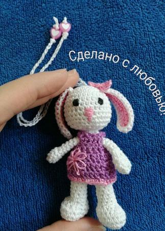 Слингобусы вязаные крючком с игрушкой Зайка ручной работы на заказ
