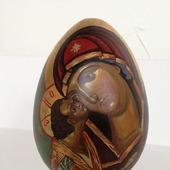 Яйцо расписное Игоревская икона Божьей матери
