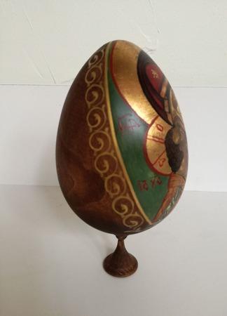 Яйцо расписное Игоревская икона Божьей матери ручной работы на заказ