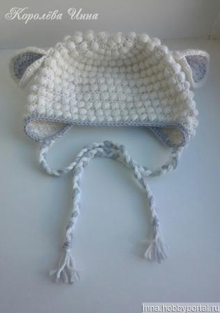 Детская шапочка Овечка ручной работы на заказ