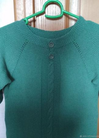 Вязанное платье из плотного хлопка ручной работы на заказ