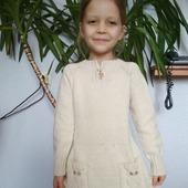 Вязанное детское платье