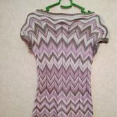 Вязанное платье в стиле Миссони