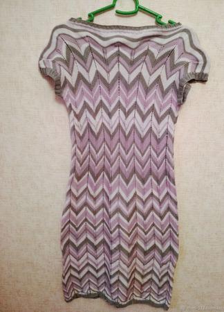Вязанное платье в стиле Миссони ручной работы на заказ