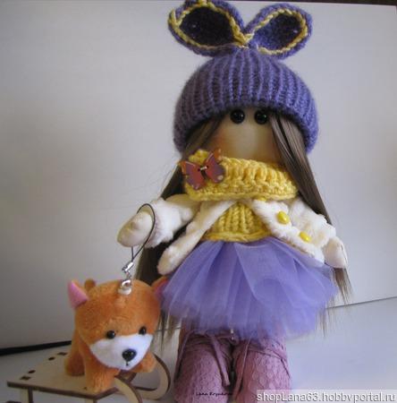 Интерьерная кукла Глаша ручной работы на заказ