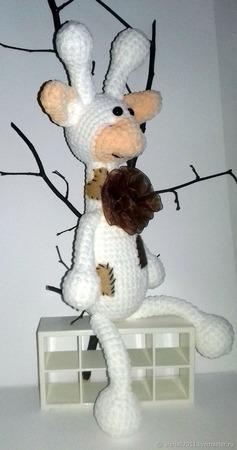 Вязаная игрушка жирафик ручной работы на заказ