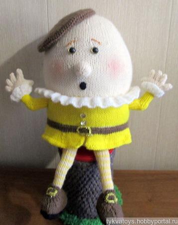 Вязаная игрушка Шалтай Болтай ручной работы на заказ