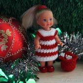 """Новогодний комплект """"Мисс Клаус"""" для маленьких куколок"""
