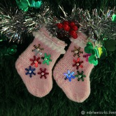 Новогодние Носочки для декора кукольного домика