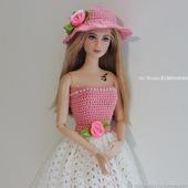 """Ажурное платье """"Кокетка"""" для Барби"""