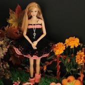"Хэллоуин. Ажурное платье ""Сабрина"" для Барби"