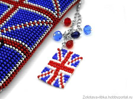 """Чехол для телефона  """"Шерлок. Англия. Синий"""" ручной работы на заказ"""