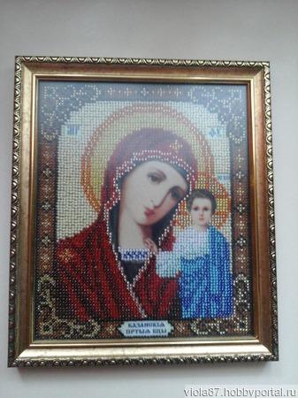 Икона Божья Матерь Казанская ручной работы на заказ