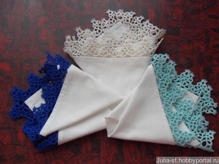 """Носовые платочки """"Зима"""" комплект ручной работы на заказ"""