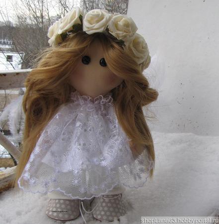 Интерьерная кукла Ангел ручной работы на заказ