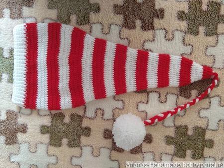 Новогоднее Настроение, шапка эльфа ручной работы на заказ