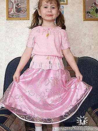Кофта на девочку Софья ручной работы на заказ