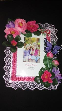 Рамка для фото с цветами ручной работы на заказ
