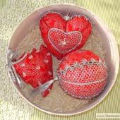 """Новогодние шарики. Набор """" Красное серебро"""""""