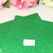 Фоамиран глиттерный цвет зеленый 2мм (20*30см)