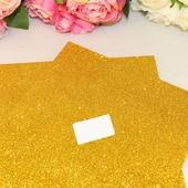 Фоамиран глиттерный цвет желтый 2мм (20*30см)