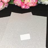 Фоамиран глиттерный цвет серебро 2мм (20*30см)