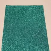 Фоамиран глиттерный цвет бирюзовый 2мм (20*30см)