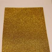 Фоамиран глиттерный цвет золото 2мм (20*30см)