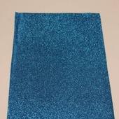Фоамиран глиттерный цвет синий 2мм (20*30см)