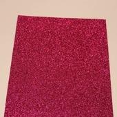 Фоамиран глиттерный цвет ярко-розовый 2мм (20*30см)