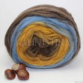 Brown-Blue (Коричневый-синий) Ровница Кауни